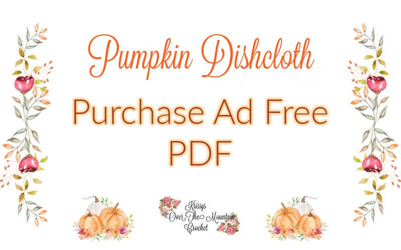 pumpkin dishcloth