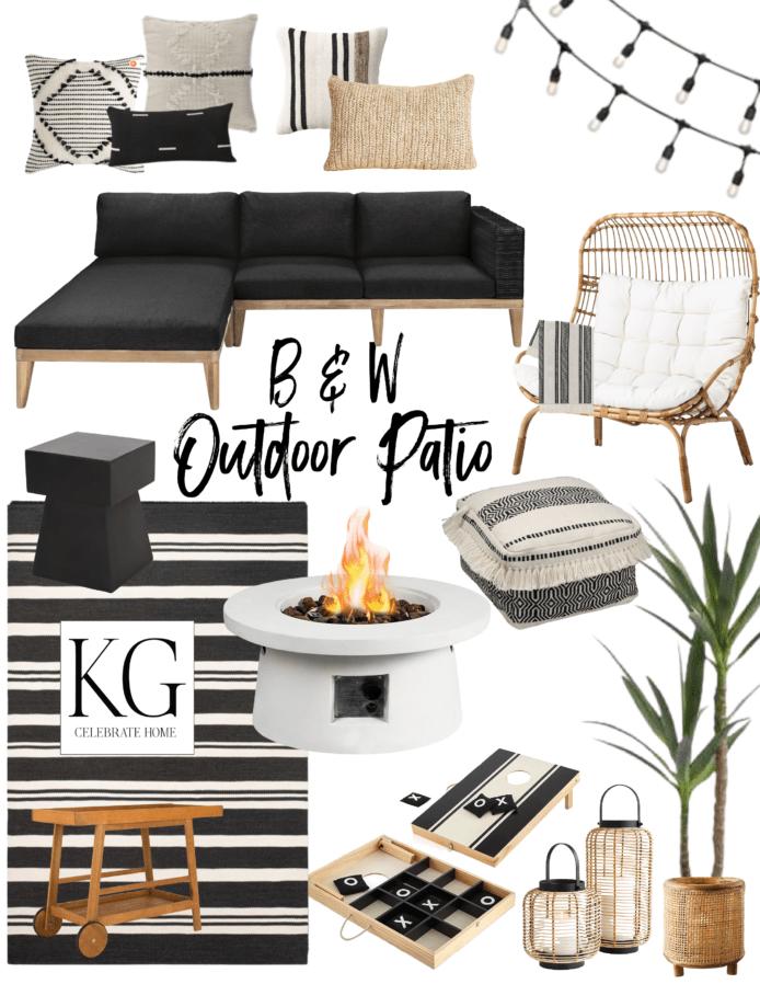 white outdoor patio furniture ideas