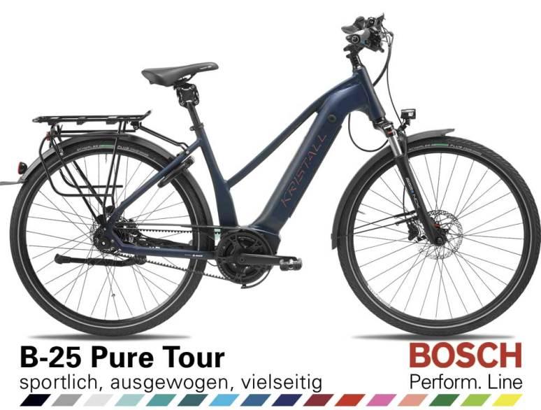 Auswahl KRISTALL B-25 Pure Tour, Trapez Geometrie, mit BOSCH Performance Line