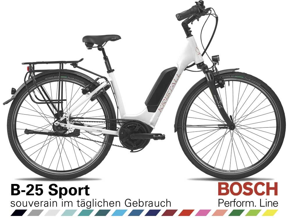 Auswahl KRISTALL B-25 Sport, Komfort Geometrie