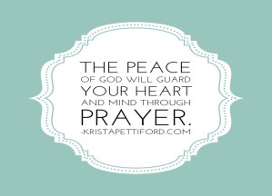 Prayer – A Formula for Peace in Any Situation
