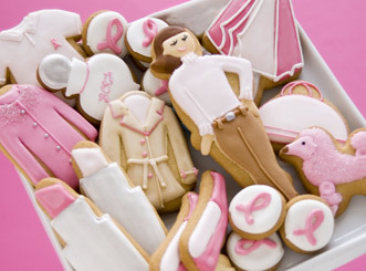 breast cancer aware cookies