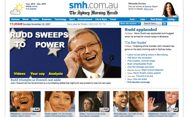 Australian 2007 Federal Election - Sydney Morning Herald