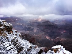 The clouds rolled back to show us the canyon!