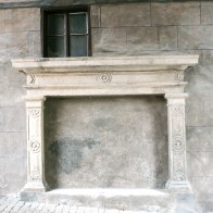 Fake outside fireplace