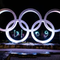 Olympic Rings with blog light painting