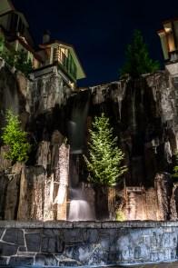 Waterfall fountain, Westin Hotel, Whistler