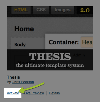 upgrade thesis 1.8.5 to 2.0