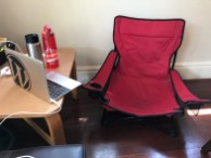 My little camping chair in the corner