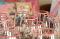Pink sugared glasses