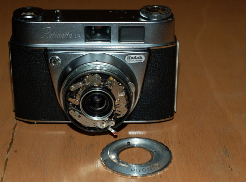 Kodak Retinette 1A with focus and shutter rings off