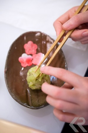 Traditional Japanese sweet-making class.
