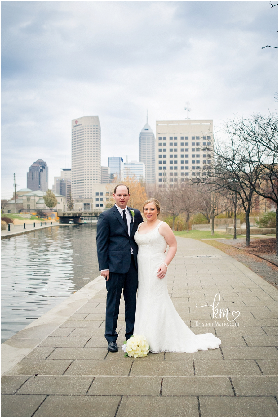 Kim and Eric Tie the Knot at the Hilton Downtown  Indianapolis Wedding Photographer