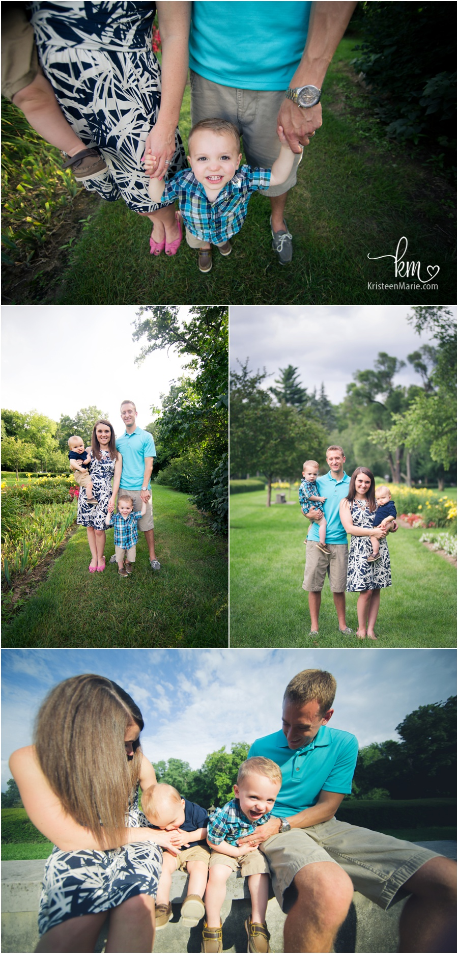 Family And Outdoor Cake Smash Session At Holcomb Gardens