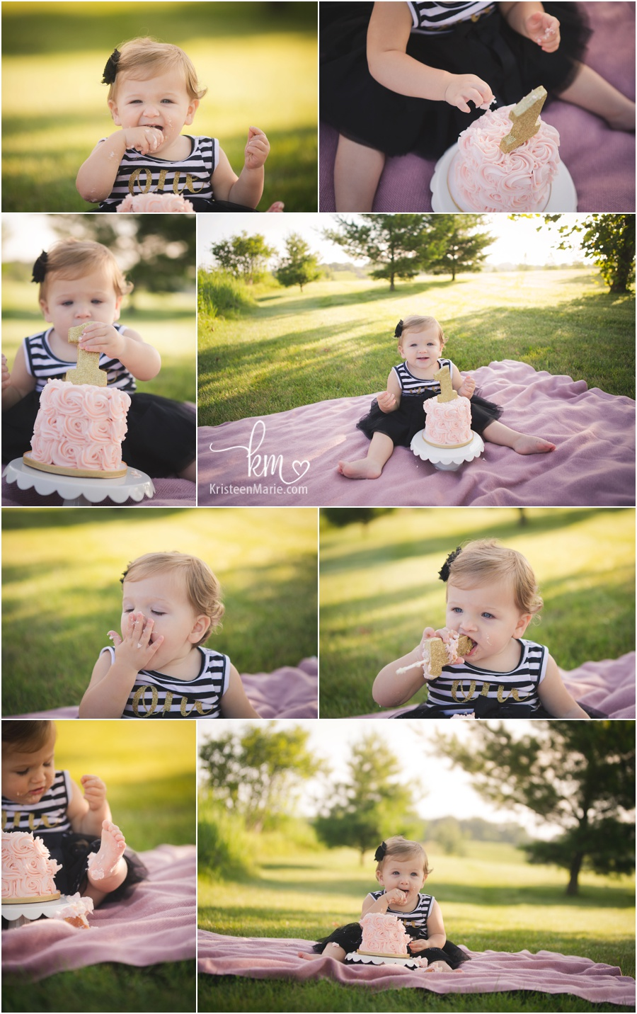 Quinn S Sunrise Outdoor Cake Smash In Indianapolis