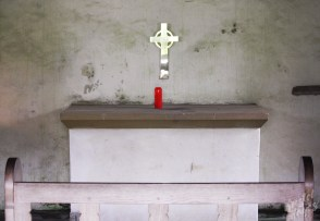 Iona: Alter in St Orans Chapel