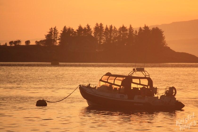 Oban: Boat on the Harbor