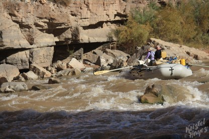 San Juan River: Scott & Karen at Government Rapid