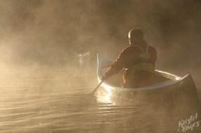 Canoe at Sunrise-Royal River, Yarmouth, Maine