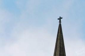 Cross at Saint Mary's Church in Carlow-River Barrow, Ireland