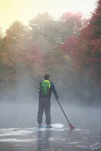 Fall SUP-Royal River, Yarmouth Maine