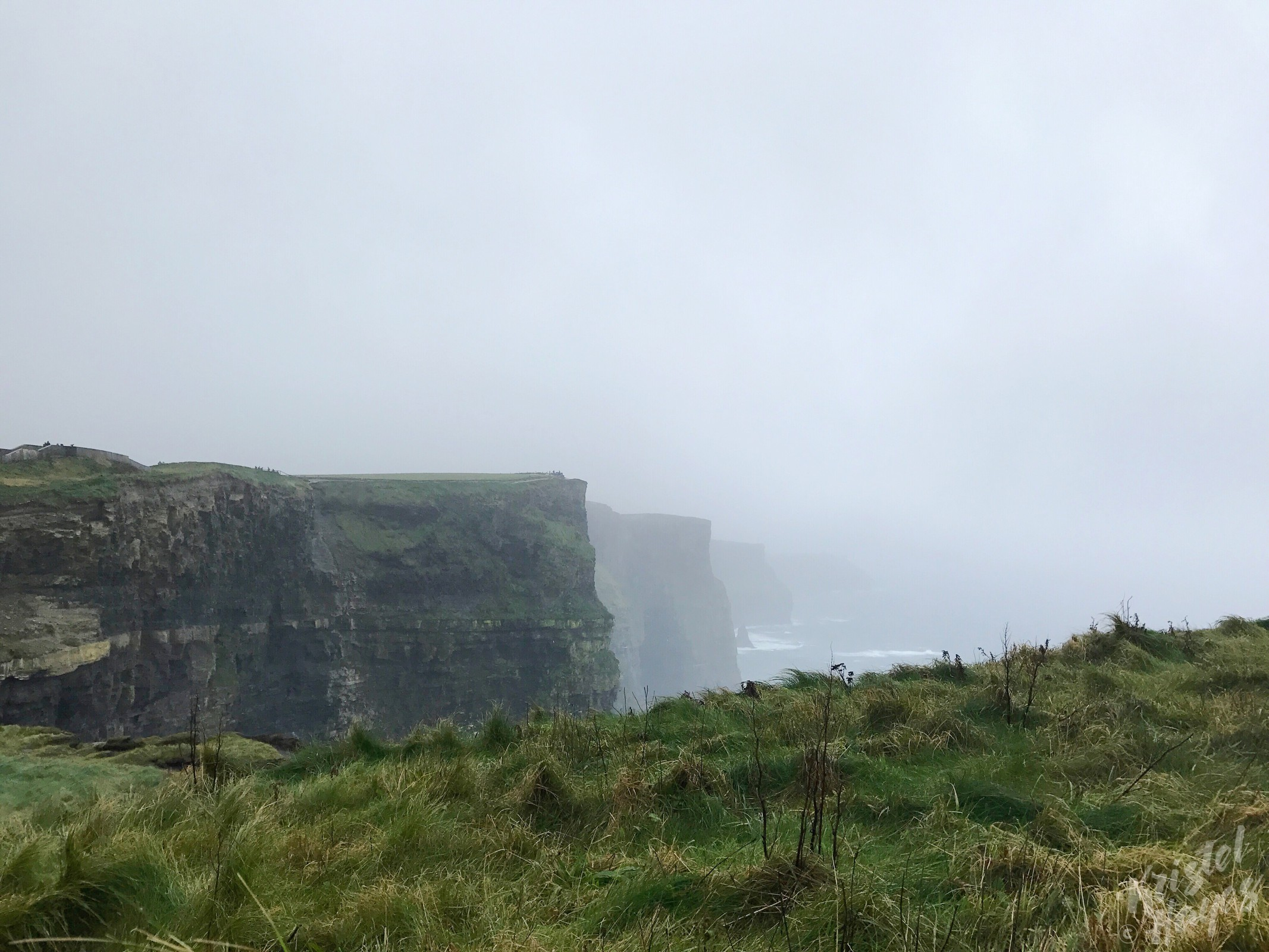 Foggy Day at Cliffs of Moher, Ireland