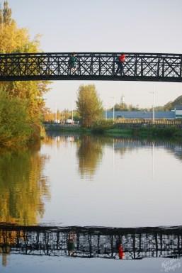Foot Bridge Over River Barrow-Carlow, Ireland