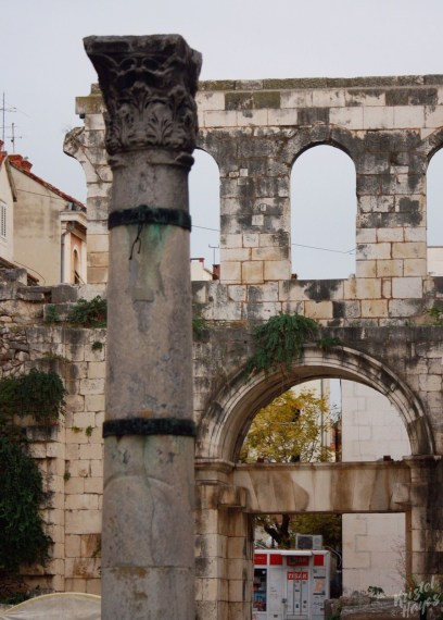 Outside the Cathedral of St. Dominus, Split Croatia