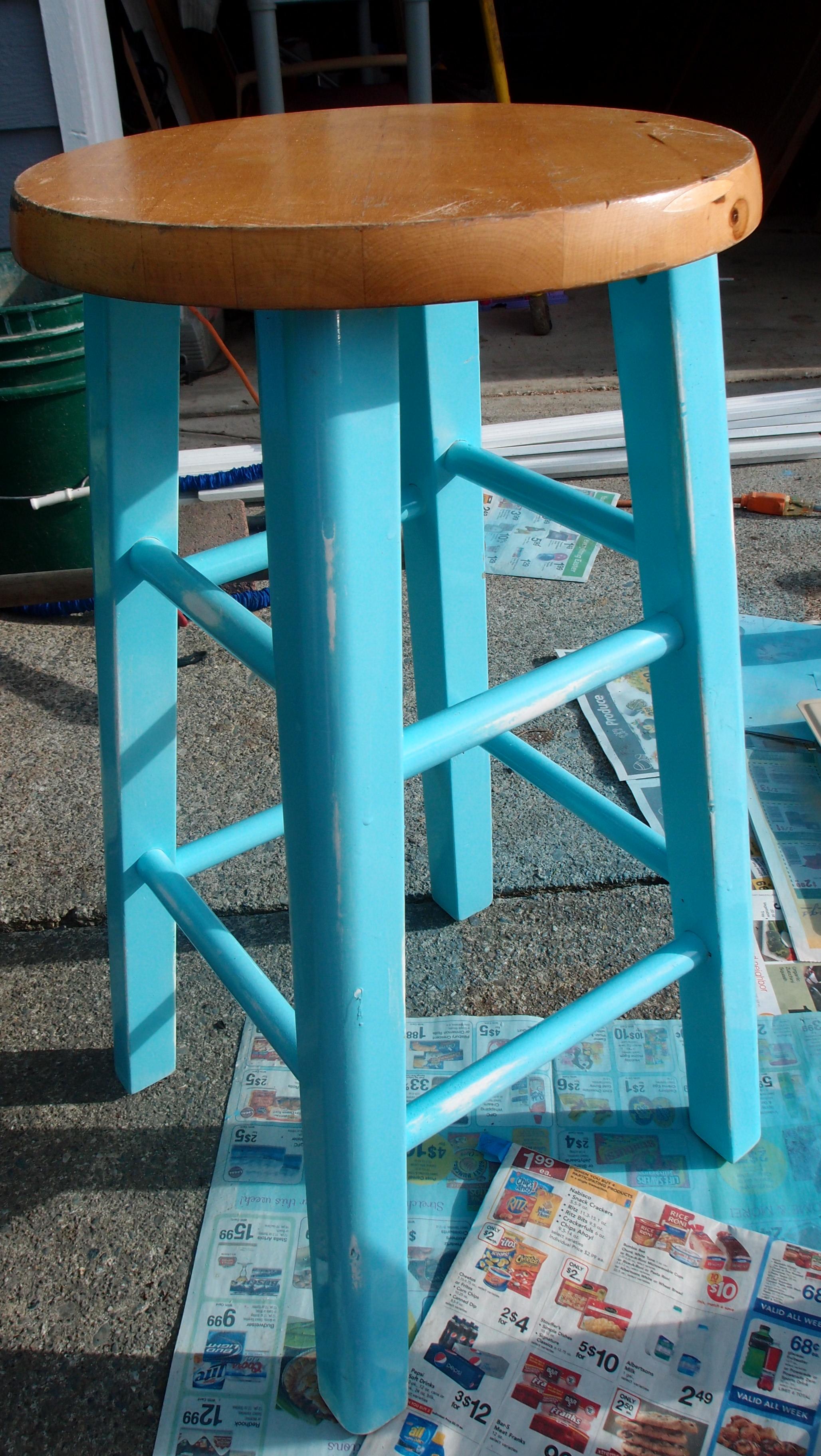 Surprising Pretty Stenciled Stools Kristen Anne Glover Beatyapartments Chair Design Images Beatyapartmentscom