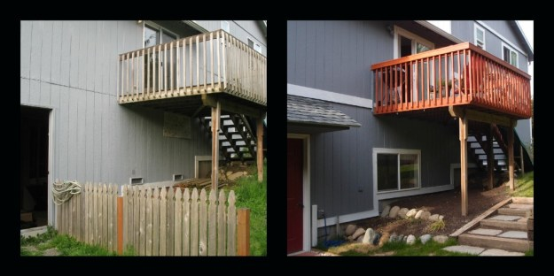 Back deck side by side