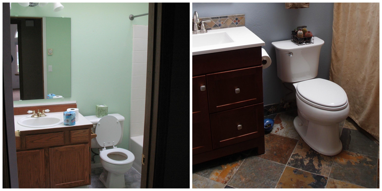 Bathroom side-by-side