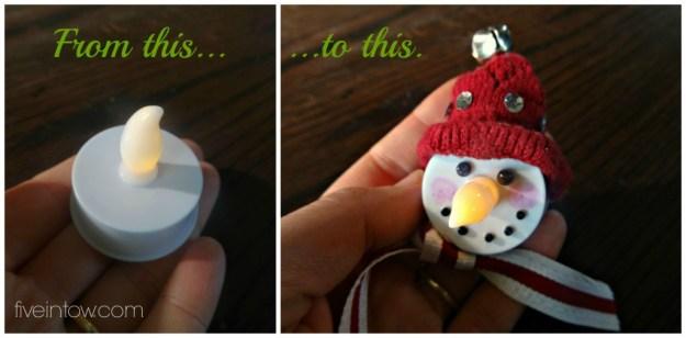 Votive to Snowman