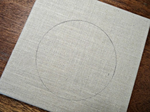 Circle on Burlap