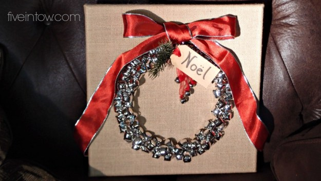 Bells and Burlap Wreath
