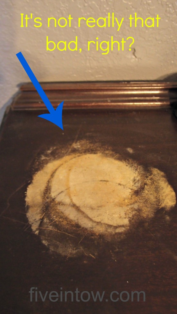 Watermarks on furniture