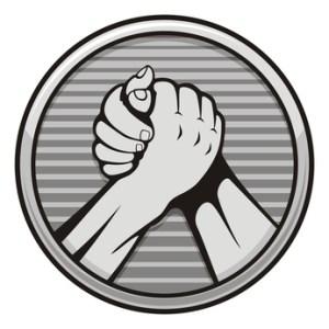 Arm wrestling icon