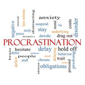 Procrastination Word Cloud Concept