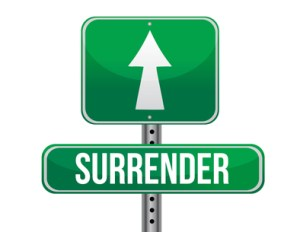 surrender road sign illustration design over a white background