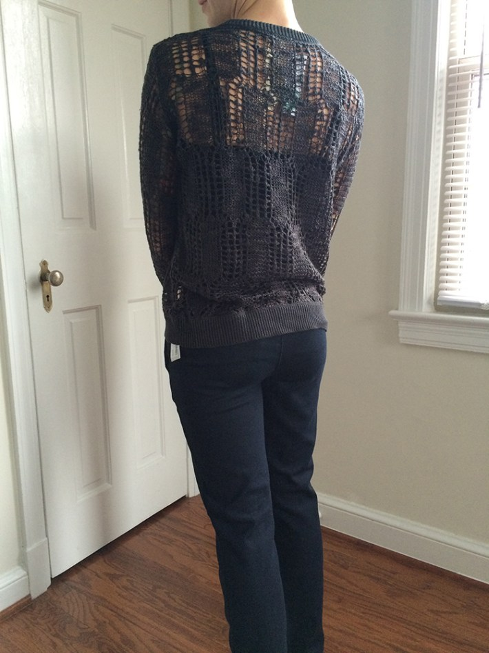 Mystree Kayella Lace Sweater (back)