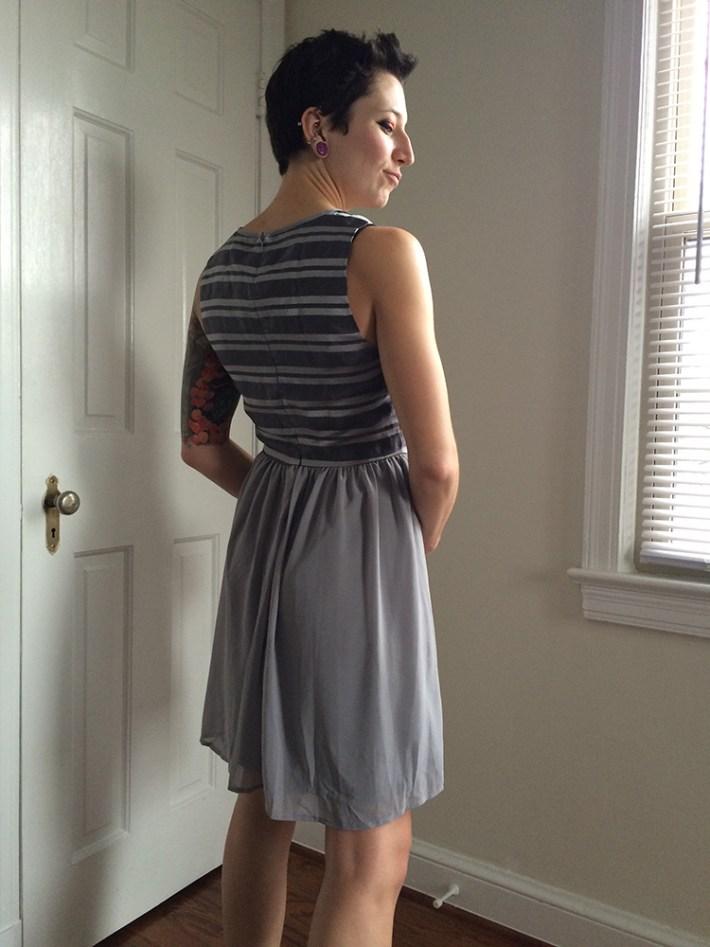 Pixley Bowen Textured Top Dress (back)