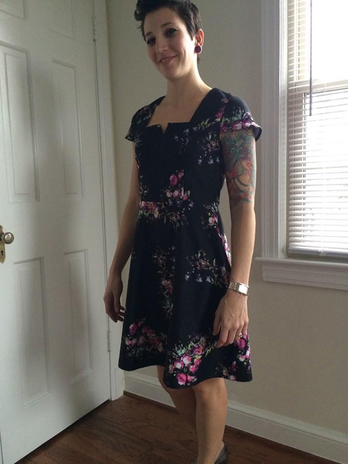 Yumi Trey Floral Dress (front)