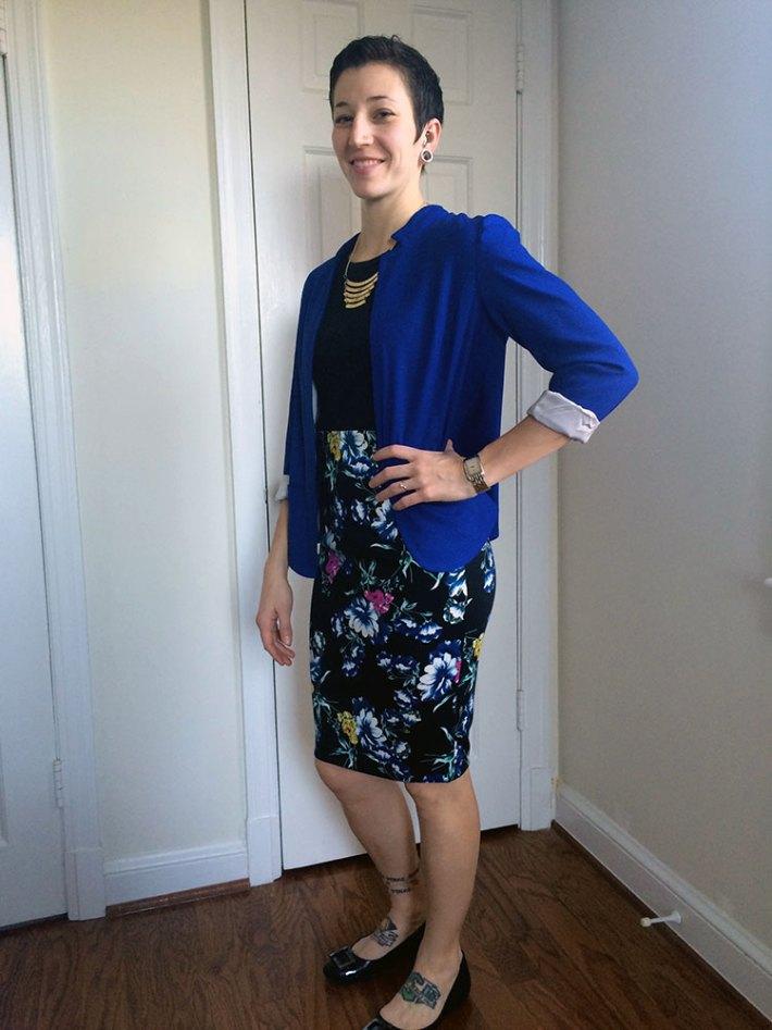 Romaine Split Back Blazer (and pencil skirt)