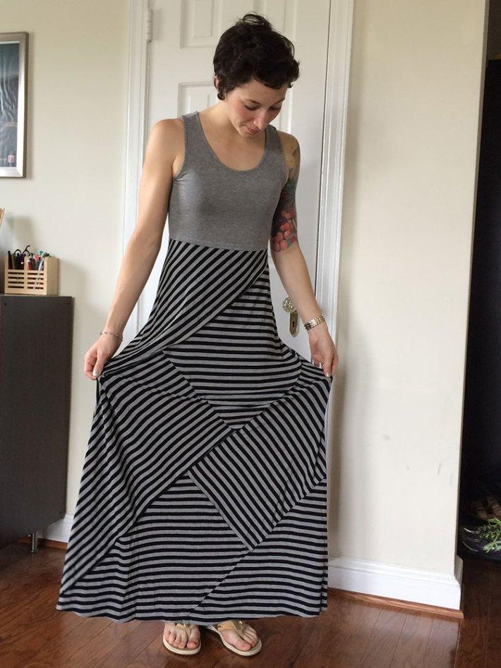 Mystree Ben Maxi Dress (skirt detail)