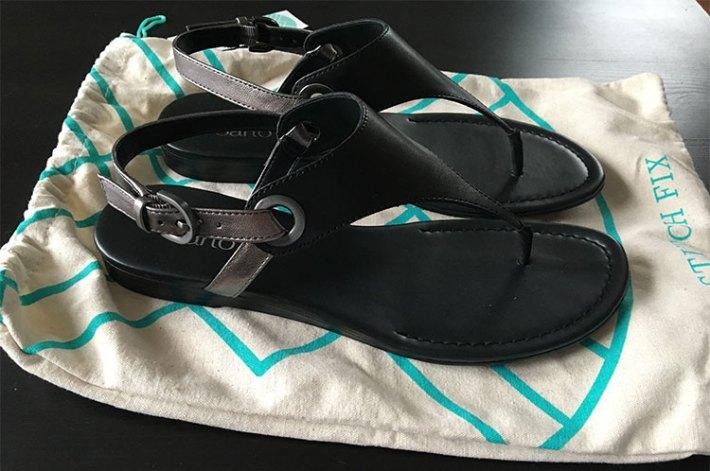 Franco Sarto Grip Thong Sandal (with dustbag)