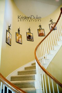 Decorating with Portraits~Up the stairs
