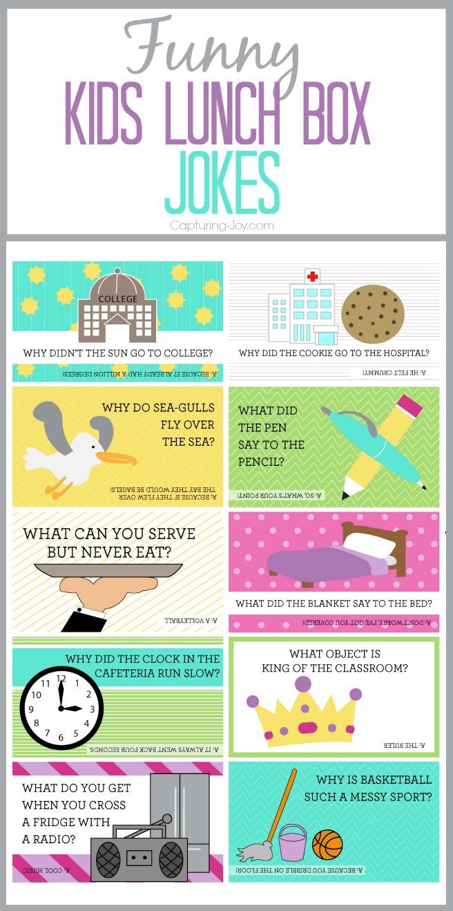 Funny Lunch Notes : funny, lunch, notes, Funny, Jokes, Kristen, Printable, Cards