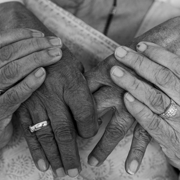 Many hands create the essence of love.