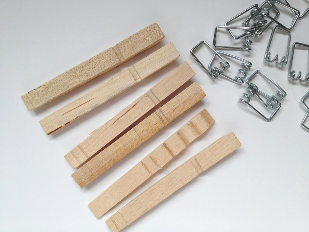 Clothespin Ornaments Christmas