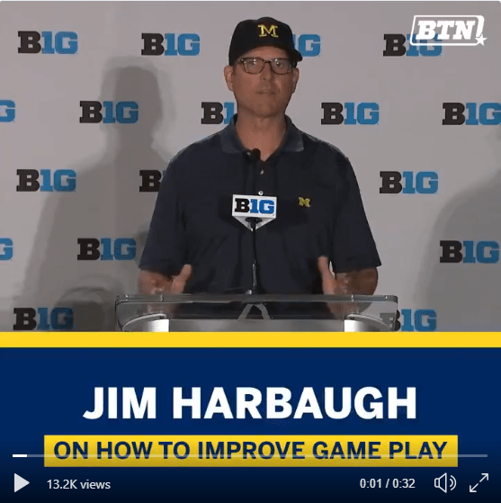 Jim Harbaugh on CFB Playoff Format and Ohio State (Twitter)