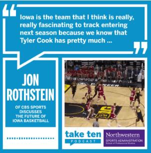 Jon Rothstein on Iowa Basketball 2019-20 - Take Ten Podcast (Twitter)